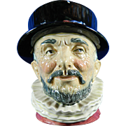 Vintage Royal Doulton Beef Eater Toby Jug Hand Painted Porcelain – England 20th Century