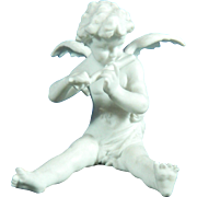 Old Biscuit or Parian Volkstedt Porcelain Figurine of an Angel – Germany 20th Century