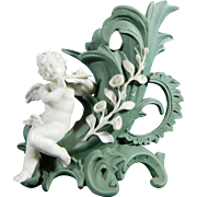Old Biscuit or Parian Porcelain Cornucopia with the Figurine of an Angel – Germany 20th Century