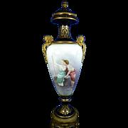 1850-1899 Multi-Color Monumental Sevres Porcelain Urn France