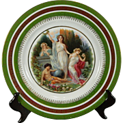 Vintage Hand Painted Royal Vienna Style Porcelain Cabinet Plate or Charger – Austria 20th Century