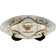 Vintage Hand Painted Sevres Porcelain Candy Tray – France 20th Century