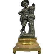 Antique Empire Style Bronze Empire Style Figurine – Peasant Boy – France 19th Century