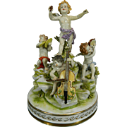 Antique Hand Painted Rudolstadt - Volkstedt Porcelain Figurine Set – The Allegory of Music – Germany 19th Century