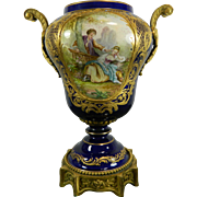 Antique Hand Painted Sevres Porcelain Urn – France 19th Century