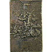 Antique Silver Cigar Case with Countryside Scene – Denmark 19th Century