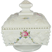 Vintage White or Milk Glass Trinket or Jewel Box – Europe 20th Century