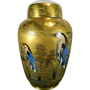 Vintage Gold Gilded Hand Painted Hutschenreuther Urn – Germany 20th Century