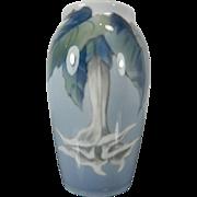 Vintage Hand Painted Royal Copenhagen Porcelain Flower Vase – Denmark 20th Century