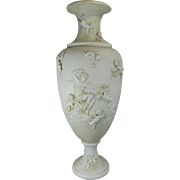 Vintage White Parian or Biscuit Porcelain Flower Vase – Germany 20th Century