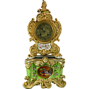 Antique Hand Painted Old Paris Style Mantel Clock – France 19th Century
