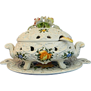 Vintage Hand Painted Deruta Porcelain Salad Tureen – Italy 20th Century