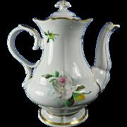 Vintage Hand Painted KPM Porcelain Teapot – Germany 20th Century