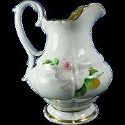 Vintage Hand Painted KPM Porcelain Creamer Pot or Pitcher – Germany 20th Century