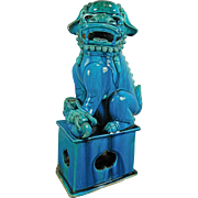 Antique Chinese Female Foo Dog or Guardian Lion – Turquoise Color – China 19th Century