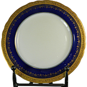 Vintage Hand Painted Gold Gilded Aynsley Porcelain Charger / Plate – England 20th Century