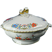 Vintage Hand Painted Limoges Porcelain Soup Tureen – Collection Damon – France 20th Century