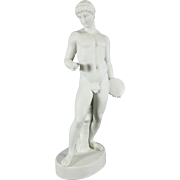 Antique White Parian or Biscuit Porcelain Figurine of Discobolus – Germany 19th Century