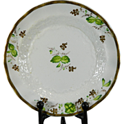 Vintage Hand Painted Old Paris Style Porcelain Saucer France 19th Century
