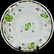 Vintage Hand Painted Old Paris Style Porcelain Saucer France 19th Century