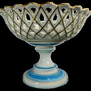 Antique Hand Painted Old Paris Porcelain Fruit Dish – France 19th Century