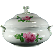 Vintage Hand Painted Meissen Porcelain Soup Tureen Germany 20th Century