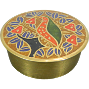 Vintage Miniature Enameled Pill Box India 20th Century