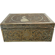 Vintage Engraved Silver Plated Trinket Box – France 20th Century