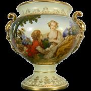 Vintage Hand Painted Porcelain Bowl – France 20th Century