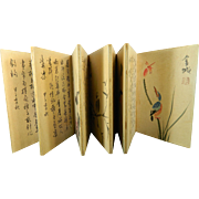 Antique Chinese Hand Painted Script Book – China 19th Century