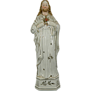 Vintage Hand Painted Porcelain of Jesus – Our Sacred Heart – Germany 20th Century