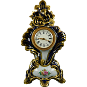 Vintage Hand Painted Limoges Porcelain Table Clock – France 20th Century