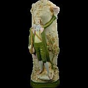 1850-1899 Large Multi-Color Royal Dux Porcelain Flower Vase Czech Republic