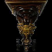 1850-1899 Hand Carved Gold Gilded Wood Shelf Mercury Hermes France