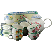 Post-1940 Multi-Color Perugia Villeroy & Boch Porcelain China Set 6 People Germany
