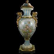 1900-1940 Sevres Style Porcelain Urn France