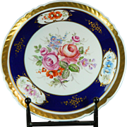 Post-1940 Multicolor Sevres Porcelain Cabinet Plate France