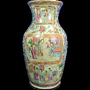 1800-1850 Famille Verte or Green Family Porcelain Vase China