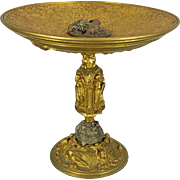 Antique Gold Gilded Bronze Tazza France 19th Century