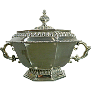 Vintage Chiselled Tane Sterling Silver Candy Dish Bowl Untermyer Collection Reproduction Mexico 20th Century