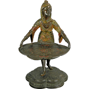 Antique Bergmann Style Bronze Spelter Statue of a Servant Austria 19th Century