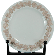 Vintage Wedgwood Saucer or Plate with Encrusted Vid Flowers England 20th Century