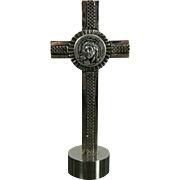 Vintage Sterling Silver Crucifix Italy 20th Century