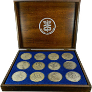 Collection of 12 Pure 999 Silver Coins 25 Anniversary Tribute to Israel by Salvador Dali United States