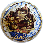 Collectors Plate By Salvador Dali Hand Painted Rosenthal Porcelain Original Box Germany