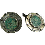 A Rare Set of Sterling Silver Cufflinks by William Spratling Mexico