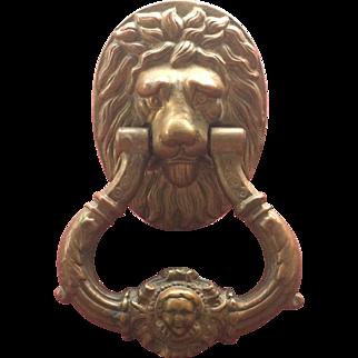 Stately Classic Lion Head Door Knocker~Victorian Era