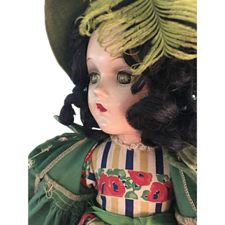 Vintage Scarlett O'Hara Composition Doll by Madame Alexander