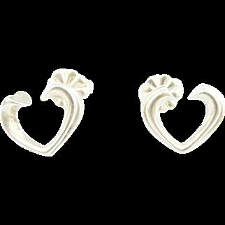 Authentic TIFFANY & CO Sterling Silver Tenderness Heart Earrings