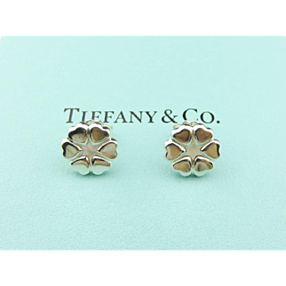 Authentic TIFFANY & CO Sterling Silver Crown of Hearts Earrings